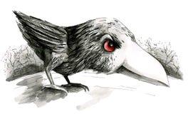Polluelo del cuervo stock de ilustración