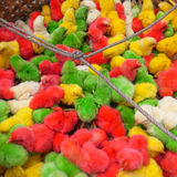 Polluelos coloridos Imagen de archivo