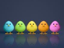Polluelos coloridos mullidos libre illustration