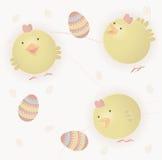 Polluelos del bebé de Pascua Foto de archivo libre de regalías