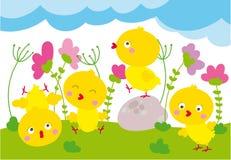 Polluelos lindos stock de ilustración