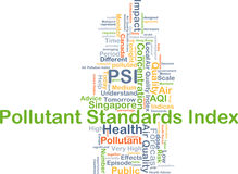 Pollutant standards index PSI background concept Royalty Free Stock Photo