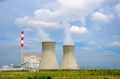 Pollute. Air pollution of power plant, environment problem Royalty Free Stock Photography