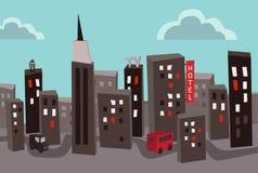 Polluted город Стоковое Изображение