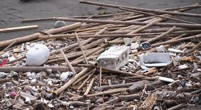 Polluted Beach Stock Image