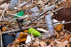 Polluted beach Stock Photos