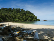 Polluted beach at Tarutao National Park, Thailand Stock Photos