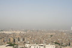 Polluted City. View of Cairo from a hill, Egypt stock images