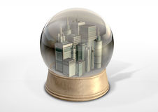 Polluted City Snow Globe Stock Photography