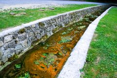 Polluted creek Stock Photo