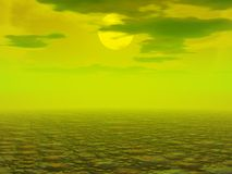 Polluted Desolate Landscape. An abstract 3d render of an imaginary Polluted Desolate Landscape Stock Image
