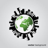 Polluted Globe - Abstract Background Vector Royalty Free Stock Image