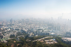 Polluted Hong Kong cityscape, Kowloon Royalty Free Stock Image