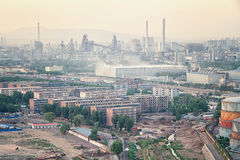Polluted Industrial City Stock Photos