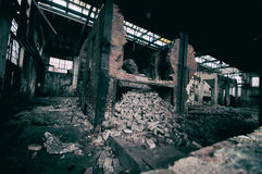 Polluted industrial factory Royalty Free Stock Photo