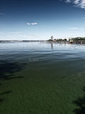 Polluted lake Stock Images