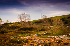 Polluted Natural Landscape Stock Image