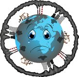 Polluted planet Royalty Free Stock Photos