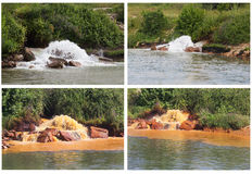 Polluted River Stock Image