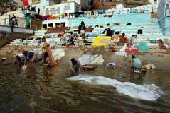 Polluted River Ganga Stock Photos