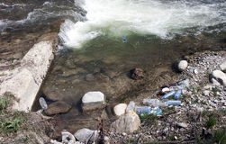 Polluted river Royalty Free Stock Images