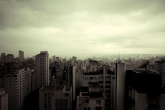 Polluted Sao Paulo- Retro image Royalty Free Stock Images