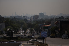 Polluted skyline of Mexico City Royalty Free Stock Image