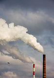 Polluted smoke from power plant Stock Photos