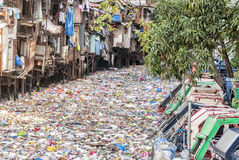 Polluted Urban River Royalty Free Stock Image