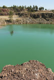 Polluted water. Pond in the abandoned mine of Lousal, Grandola, Portugal Stock Images