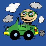 Polluting Environment Car Smog : Cartoon. Stock Photo