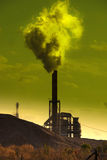 Polluting factory Stock Image
