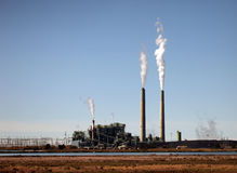 Polluting Industrial Plant Stock Photography