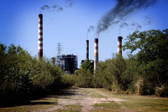 Polluting industry Stock Photo