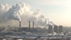 Polluting plant stock footage