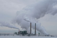 Polluting power plant Royalty Free Stock Photography