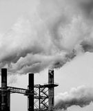Polluting Smoke Stacks Royalty Free Stock Photos
