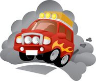 Polluting vehicle. Vector illustration of polluting vehicle Stock Photo