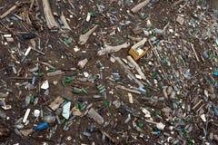 Pollution écologique des corps de l'eau image libre de droits
