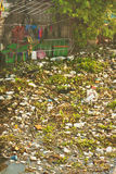 Pollution. Midden Wastewater, Garbage, Pollution, Bad Life royalty free stock photo