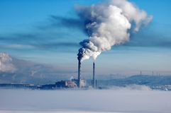 Pollution. Heavy industrial pollution, environment problem Royalty Free Stock Image