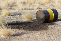 Pollution. Nature pollution contamination barrel drum Stock Photos