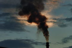 Pollution. Is a factory emissions, air pollution Stock Image