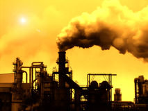 Pollution. Industrial Smoke Pollution - Global Warming Royalty Free Stock Photo