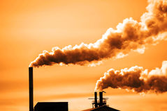 Pollution in the Air Royalty Free Stock Photos