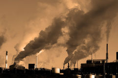 Pollution in the Air royalty free stock photo