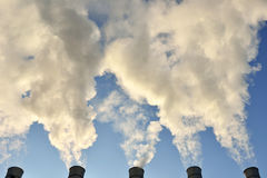 Pollution air Royalty Free Stock Images