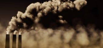 Pollution atmosphérique Image libre de droits