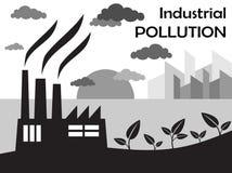 Pollution atmosphérique d'usine Images stock