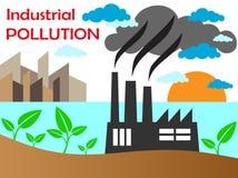 Pollution atmosphérique d'usine Photographie stock libre de droits